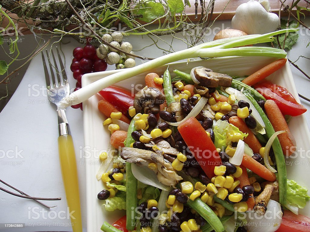 Gourmet Black Bean & Shittake Mushroom Salad 2 royalty-free stock photo