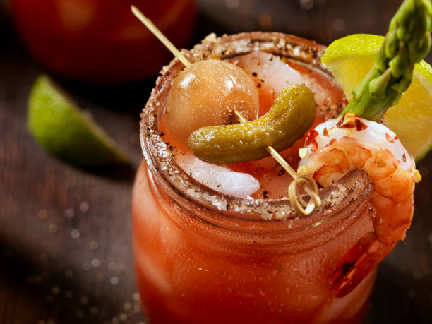 Gourmet Bloody Mary stock photo