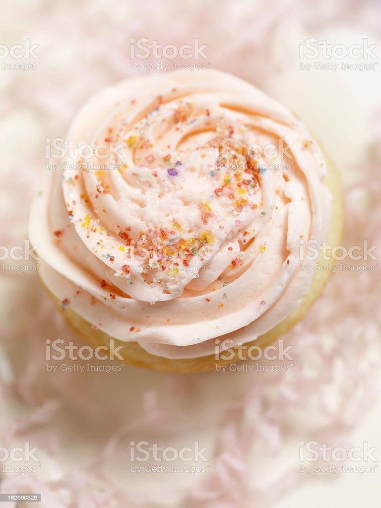 Gourmet Buttercream Cupcake royalty-free stock photo