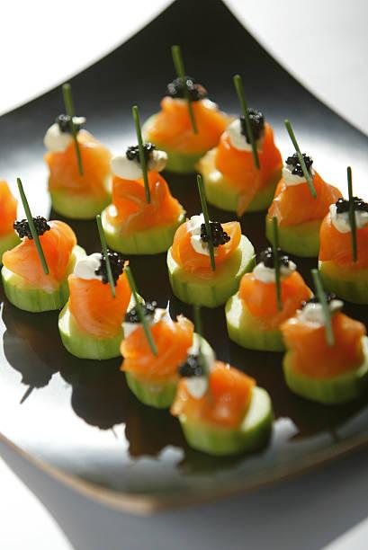 Gourmet Catering stock photo