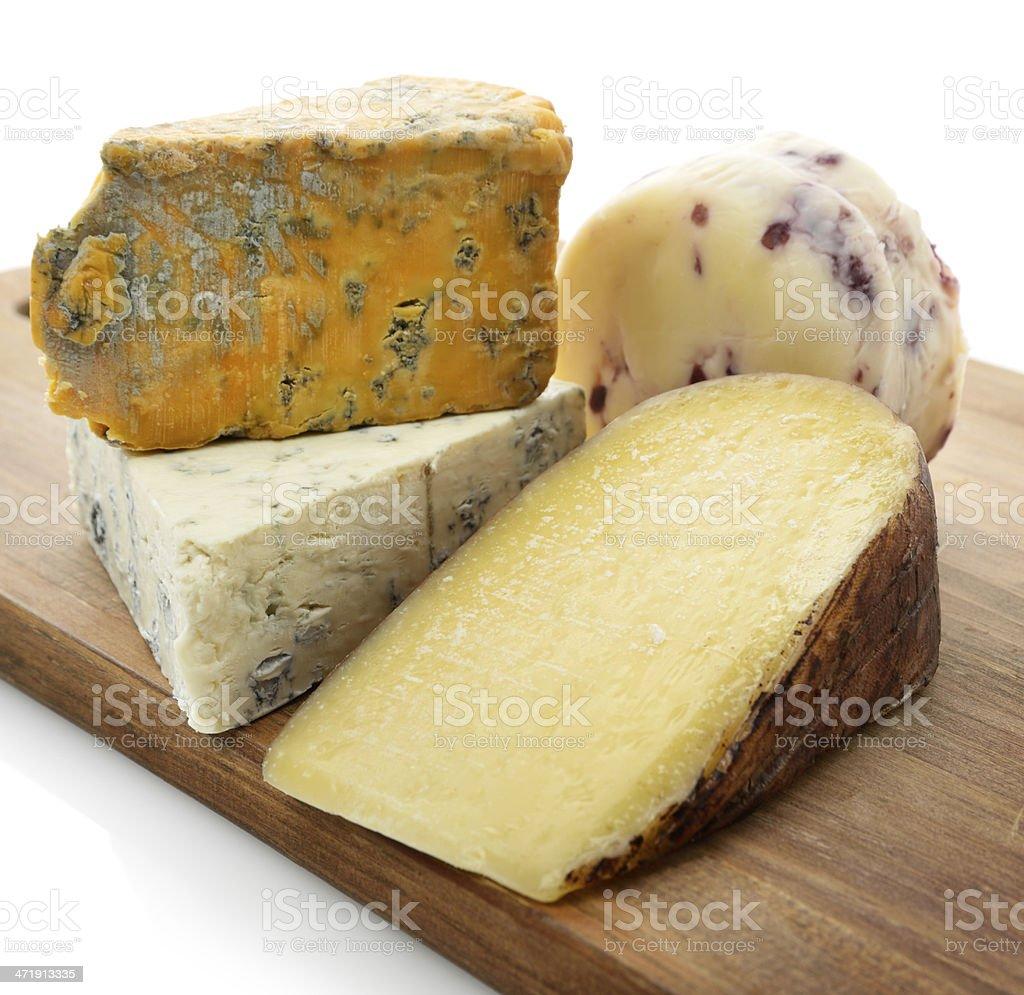 Gourmet Cheese Assortment stock photo