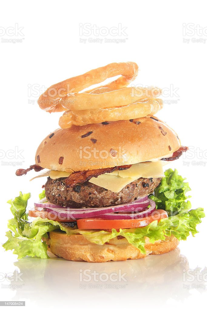 Gourmet cheese burger royalty-free stock photo