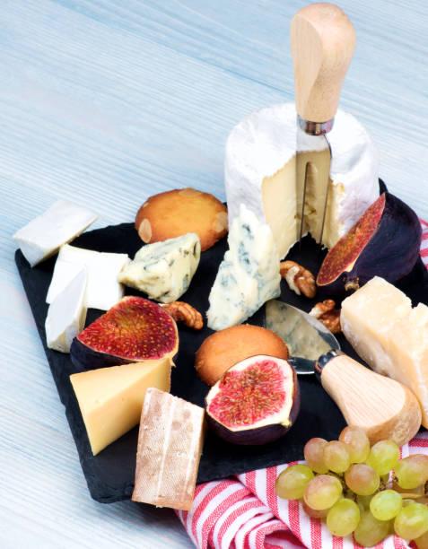 Gourmet Cheese Plate stock photo