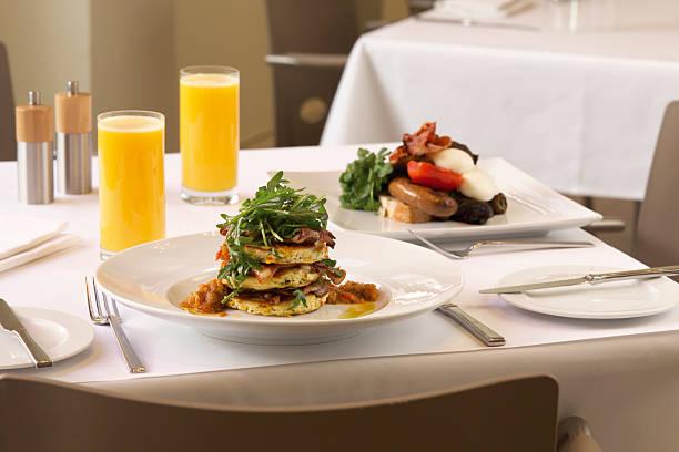 Gourmet Cooked Breakfast stock photo