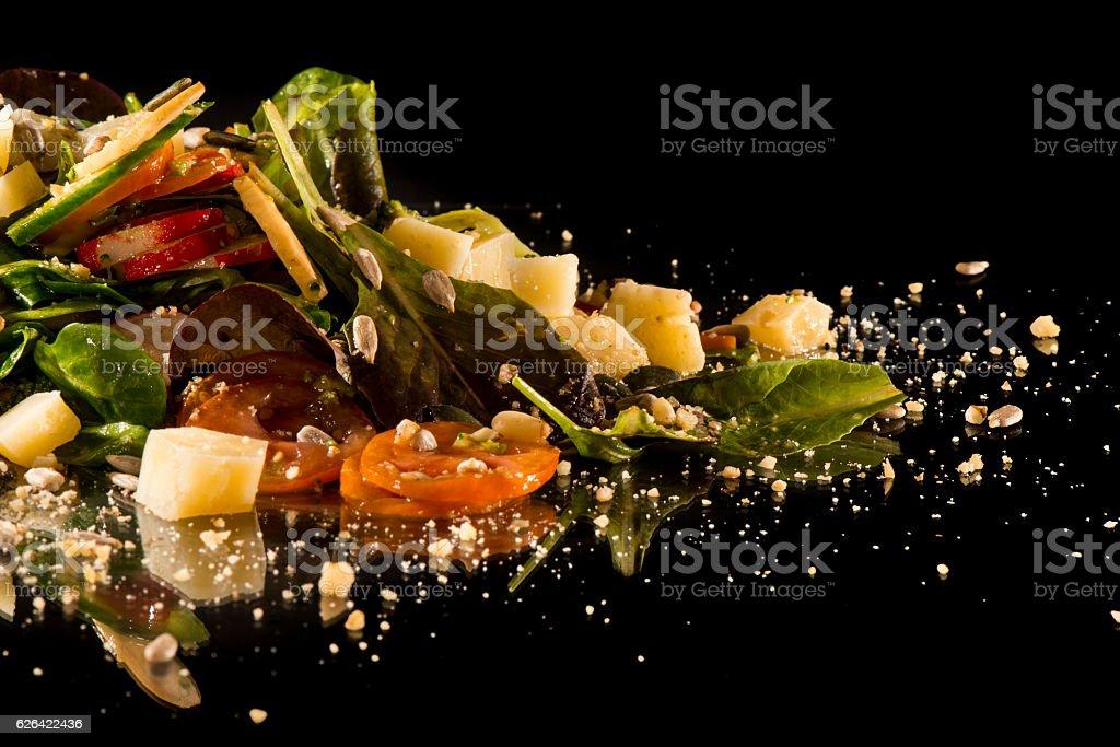 Gourmet creative salad stock photo