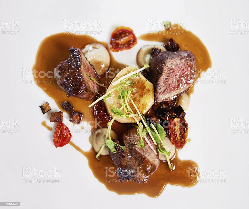 Gourmet delight stock photo