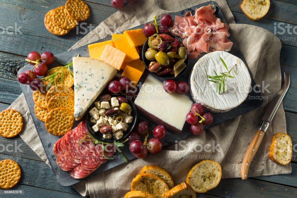Gourmet Fancy Charcuterie Board stock photo