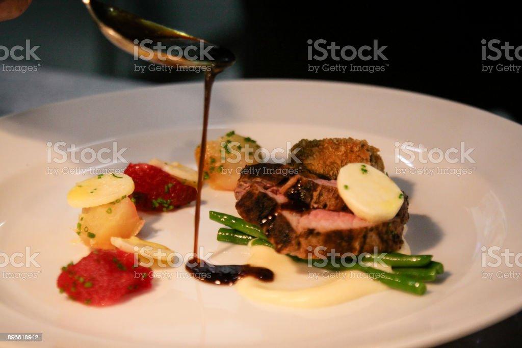 Cuisine gastronomique sur plat - Photo