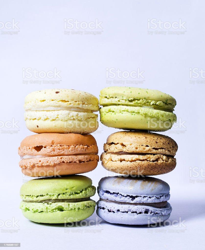 Gourmet French Macaron Pastries royalty-free stock photo