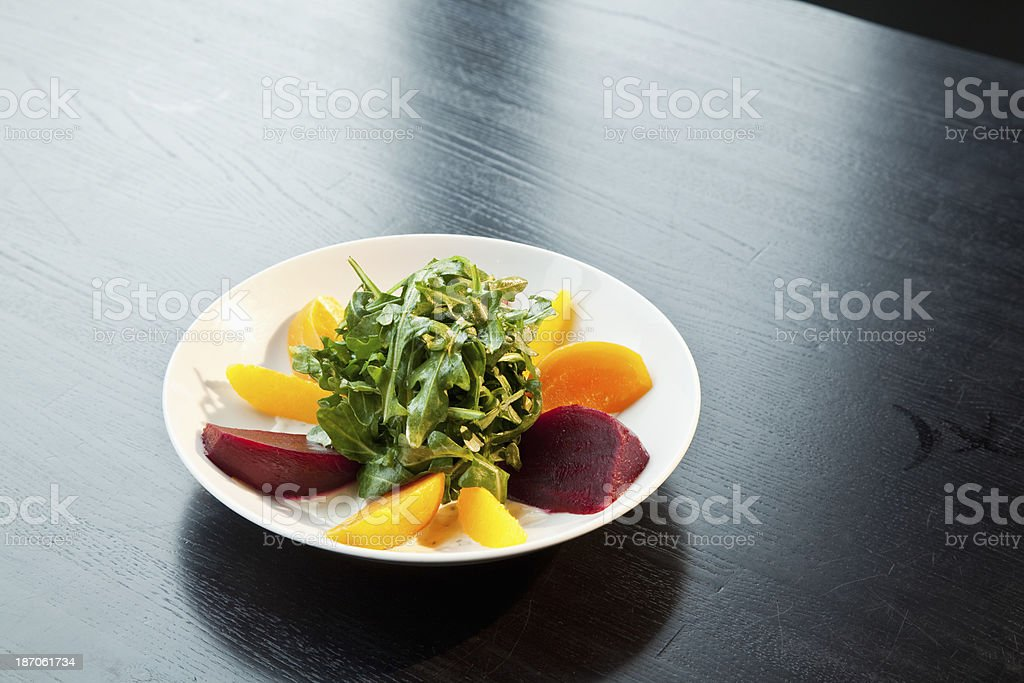 Gourmet fruit and salad royalty-free stock photo