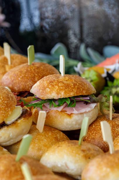 Gourmet Hamburger Sliders stock photo