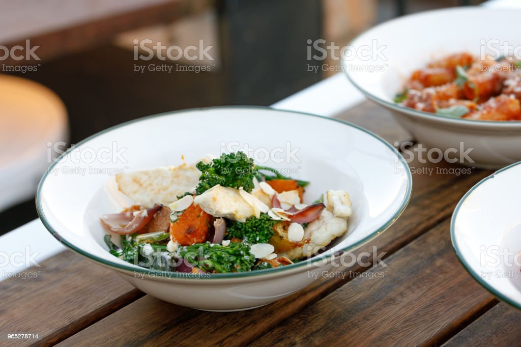 Gourmet Healthy Chicken And Vegetable Comfort Food royalty-free stock photo