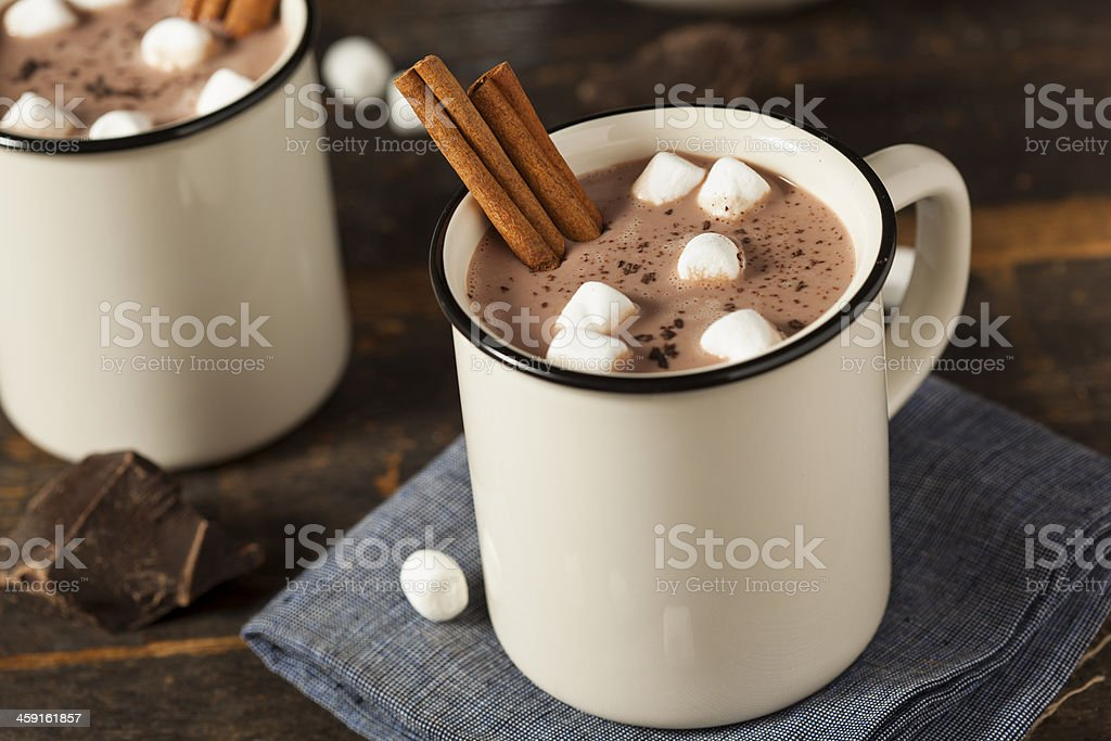Gourmet Hot Chocolate Milk stock photo