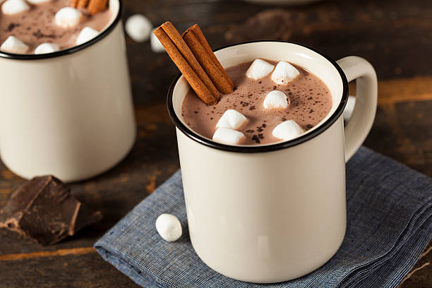 gourmet hot chocolate milk - hot chocolate stock photos and pictures