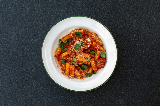 Gourmet Italian Pasta Comfort Food Stock Photo & More Pictures of After Work