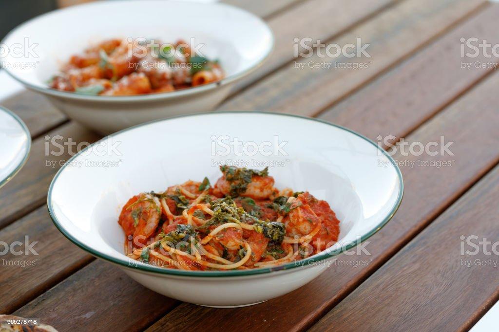 Gourmet Italian Pasta Comfort Food zbiór zdjęć royalty-free