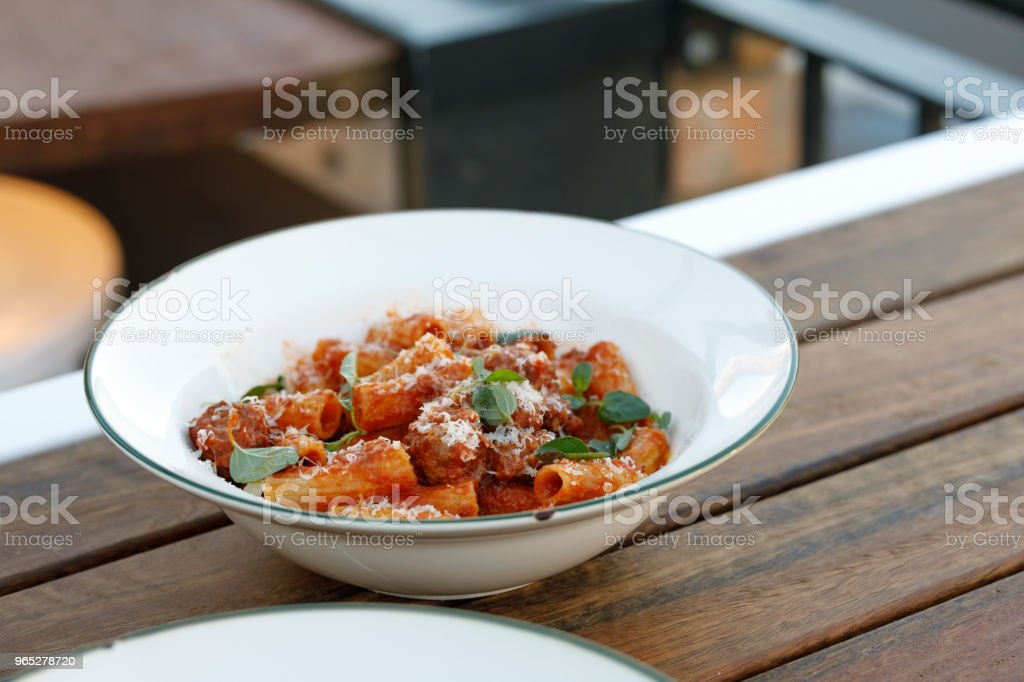 Gourmet Italian Pasta Comfort Food royalty-free stock photo