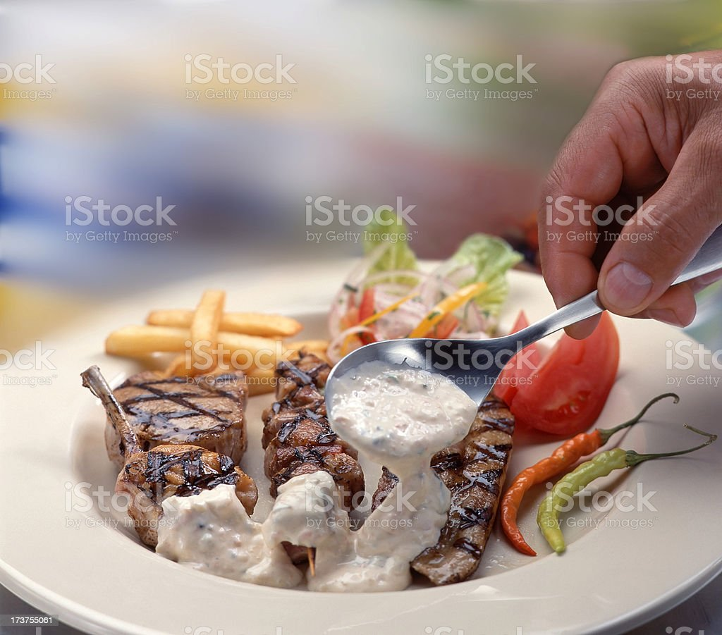 Gourmet lamb chops royalty-free stock photo