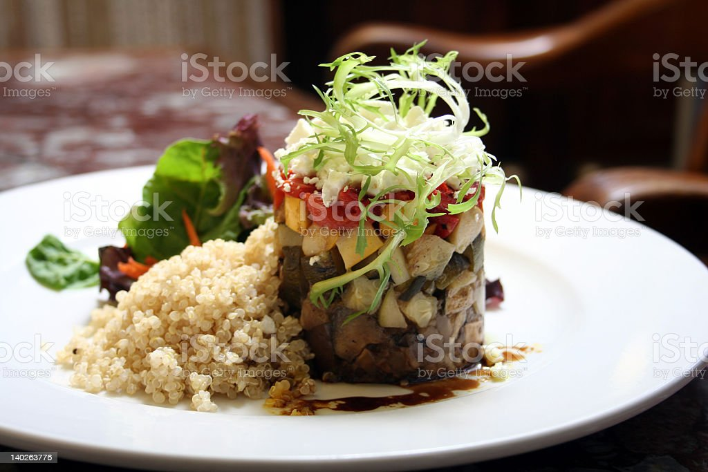 Gourmet meal royalty-free stock photo