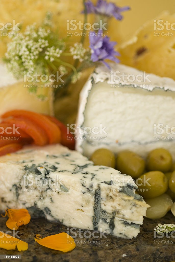 Gourmet Meat and Cheese Tray royalty-free stock photo