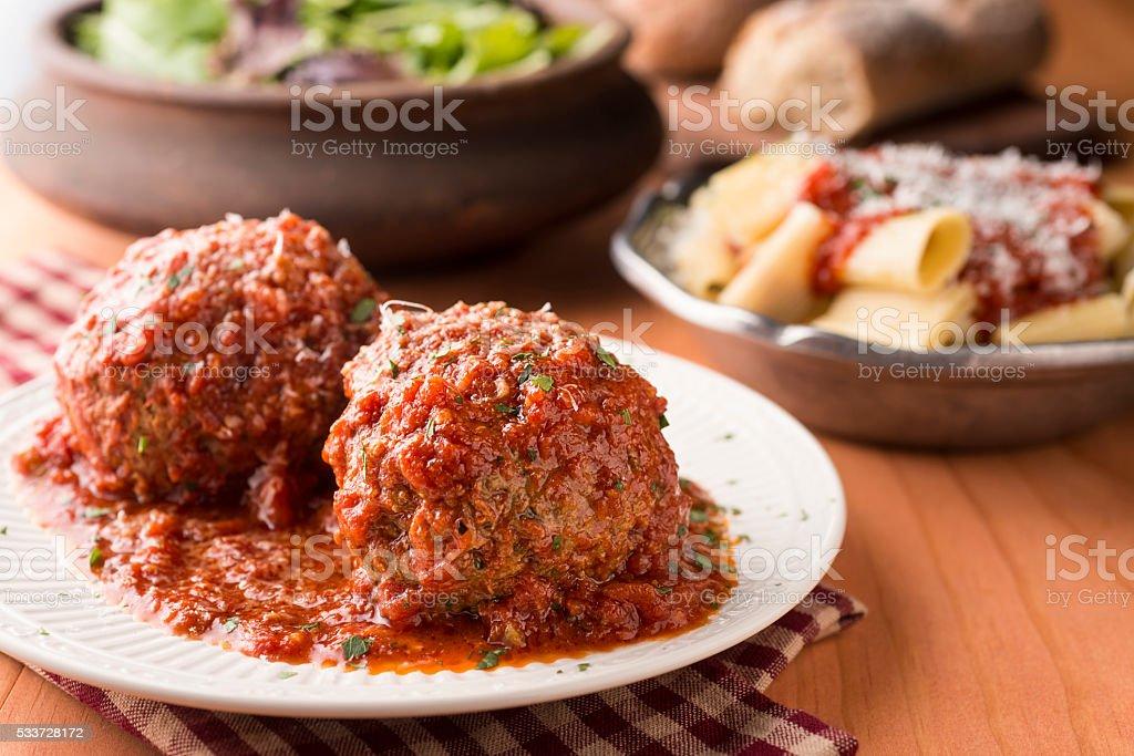 Gourmet Meatball stock photo