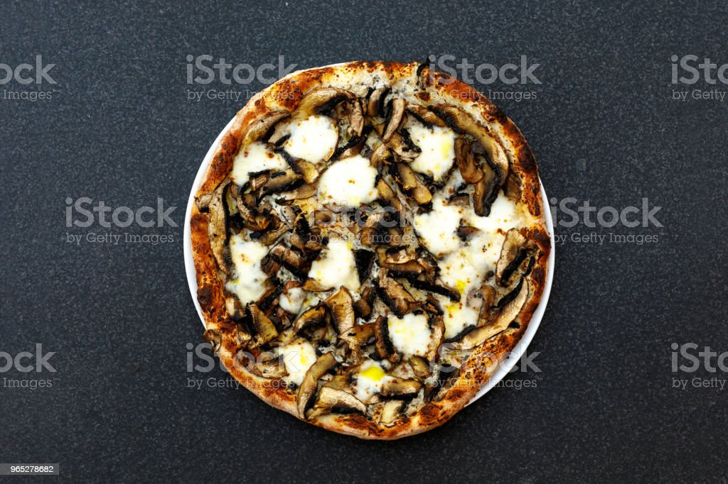 Gourmet Mushroom Pizza Comfort Food zbiór zdjęć royalty-free