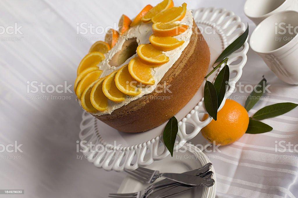 gourmet orange pound cake royalty-free stock photo
