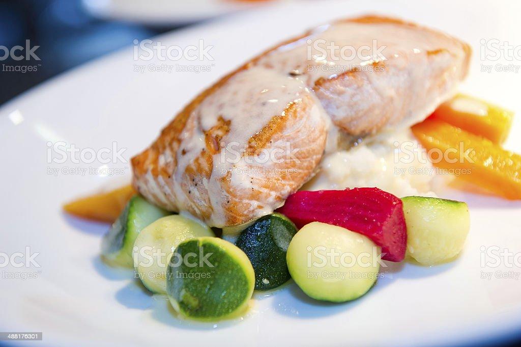 Gourmet Salmon royalty-free stock photo