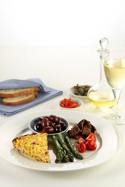 Gourmet selection of appetisers stock photo