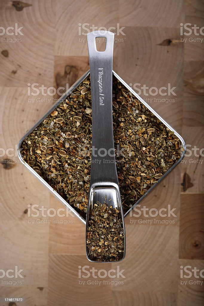gourmet spices stock photo