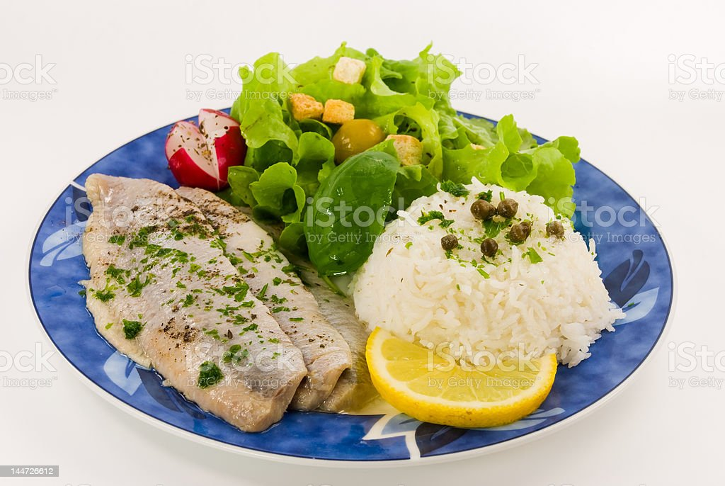 gourmet-young herring salad royalty-free stock photo