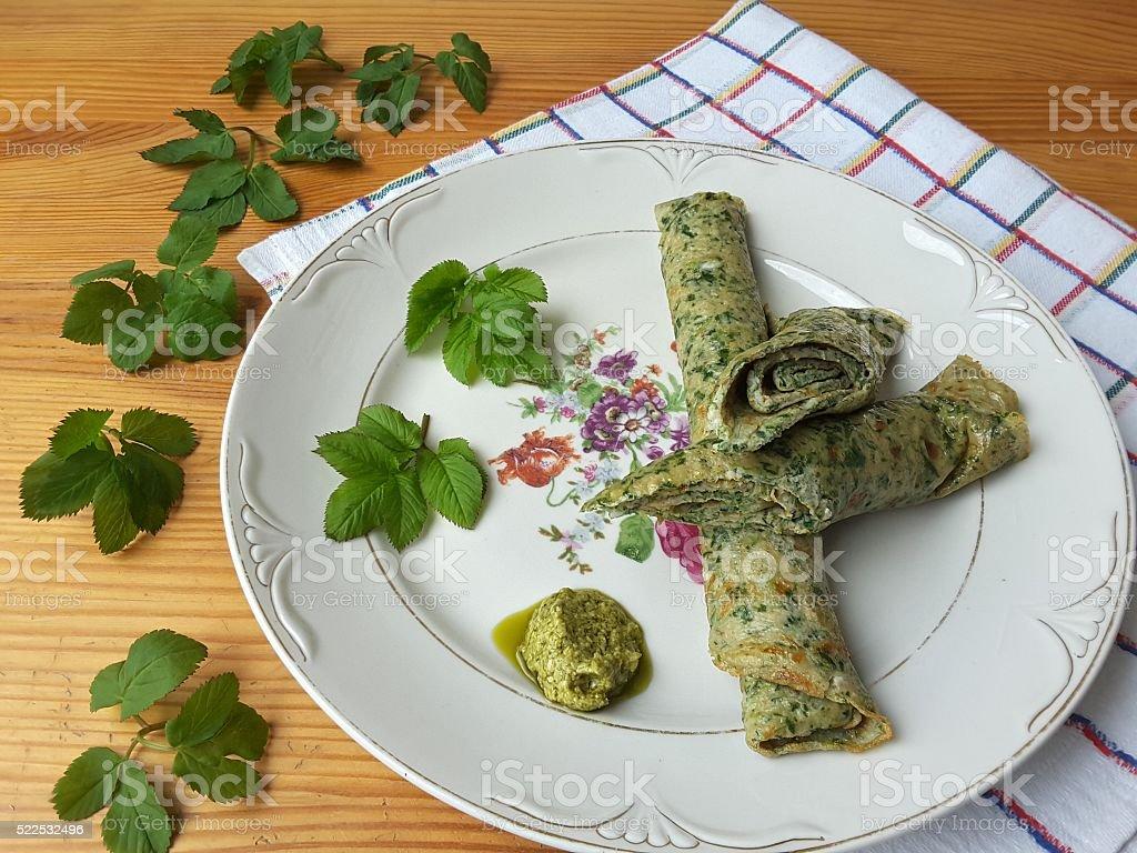 Goutweed имбирь омлет на покрытие, органические питание стоковое фото