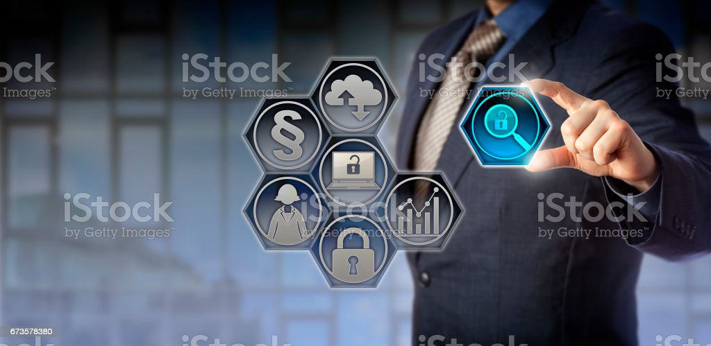 Governance Officer Managing Regulatory Compliance stock photo