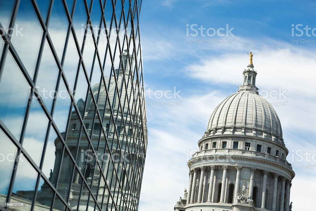 USA Government and Business Cooperation, Partnerships at Wisconsin State Capitol stock photo