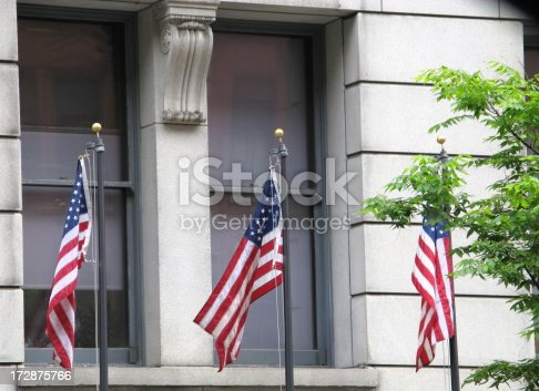 istock Government Building American Flags City Hall 172875766