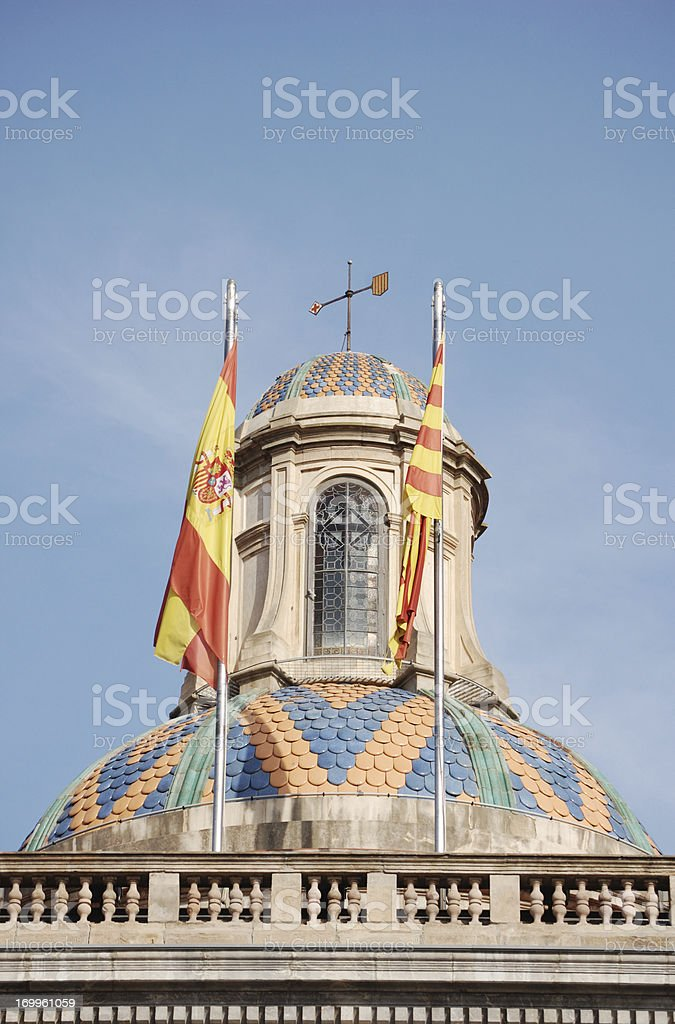 Government Building, Barcelona, Spain royalty-free stock photo