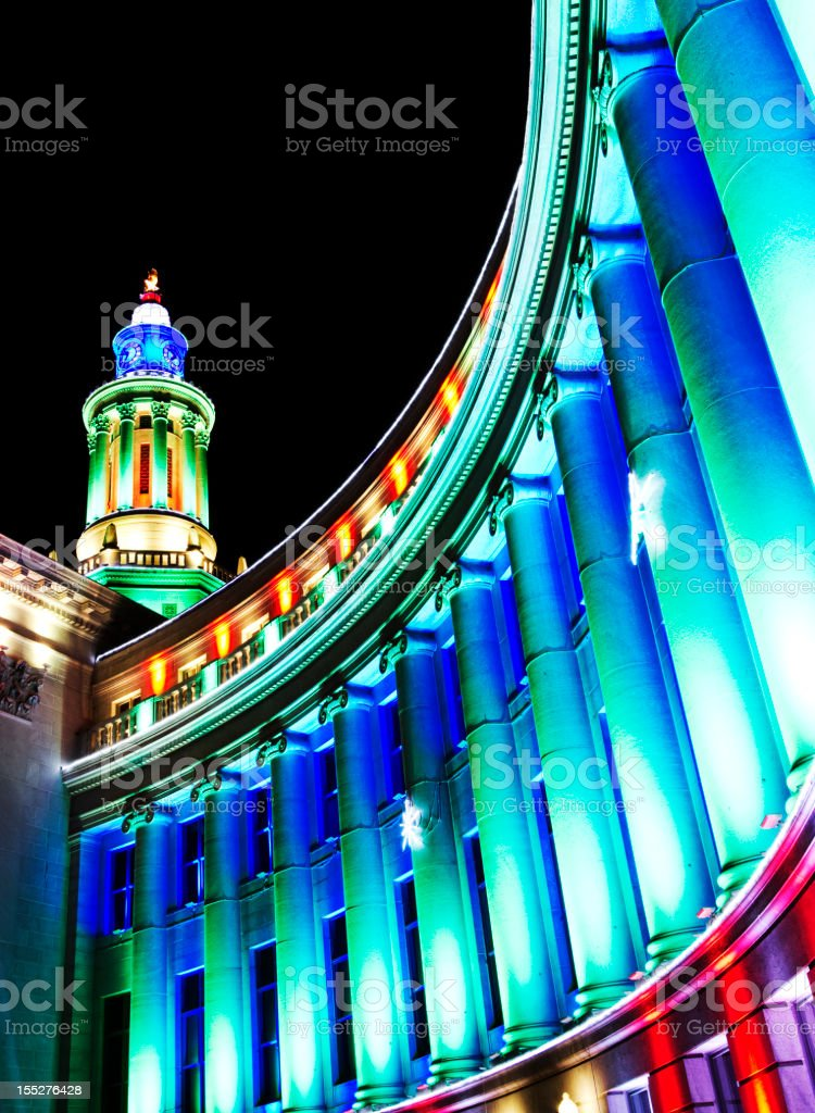Government Building Holiday Decorations royalty-free stock photo