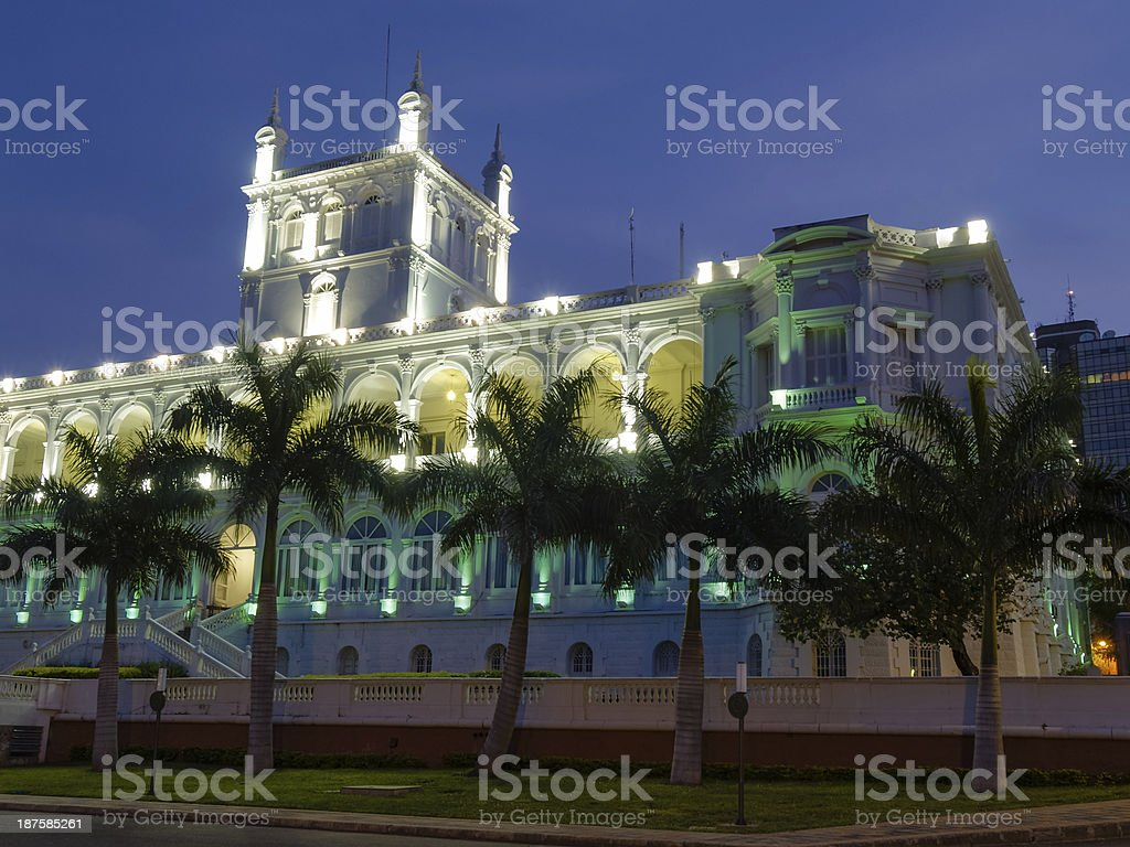 Government building in Asuncion, Paraguay, South America. stock photo