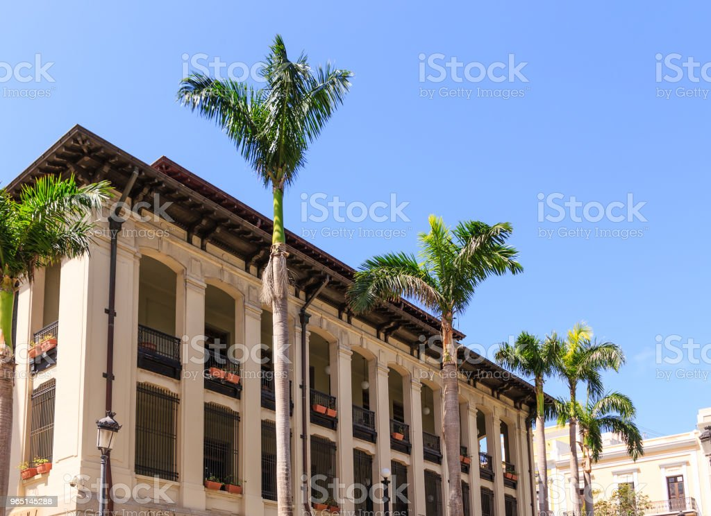 Government Building in Old San Juan royalty-free stock photo