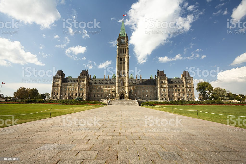 Government Building on Parliament Hill in Ottawa stock photo
