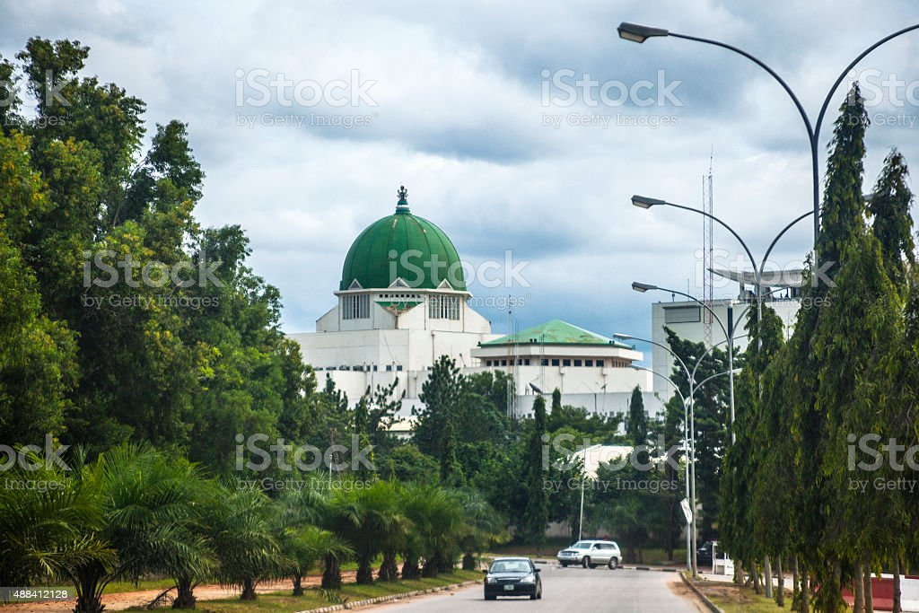 Government buildings in Abuja, Nigeria. stock photo