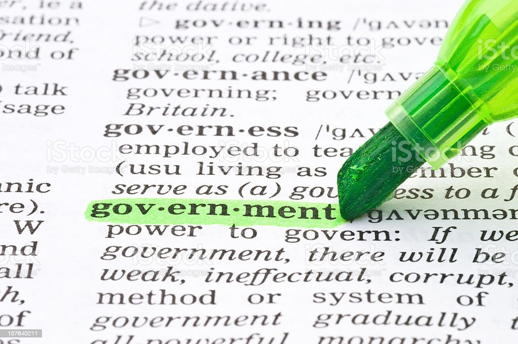 government definition word tagged in dictionary royalty-free stock photo