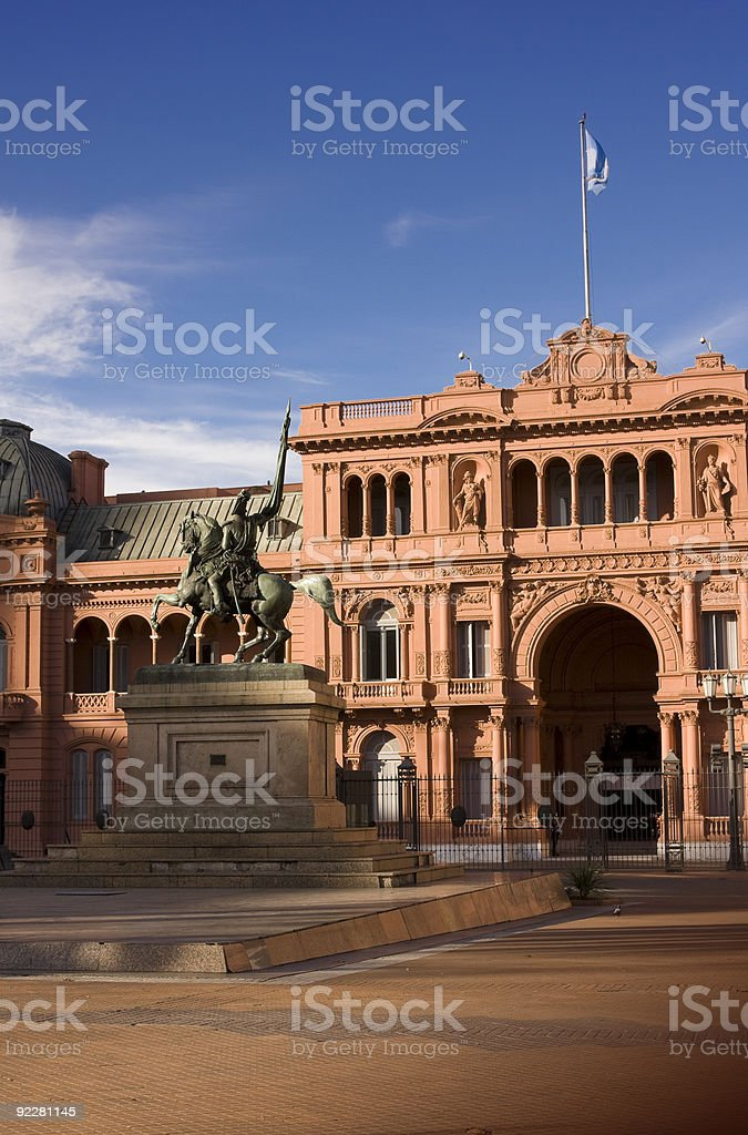 Government House and Monument stock photo