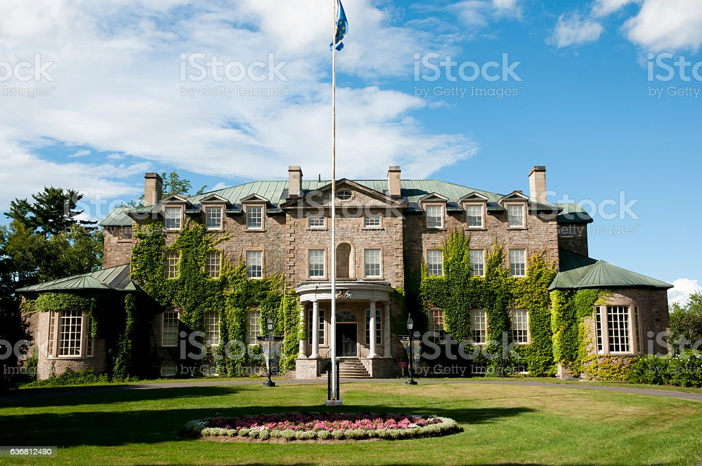 Government House - Fredericton - Canada stock photo