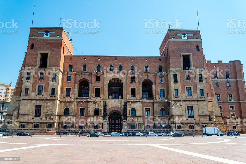 Government Palace in Taranto, Italy stock photo