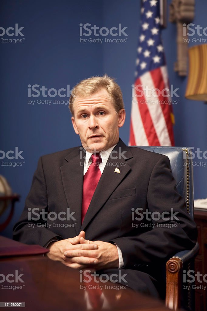 Government Portrait stock photo