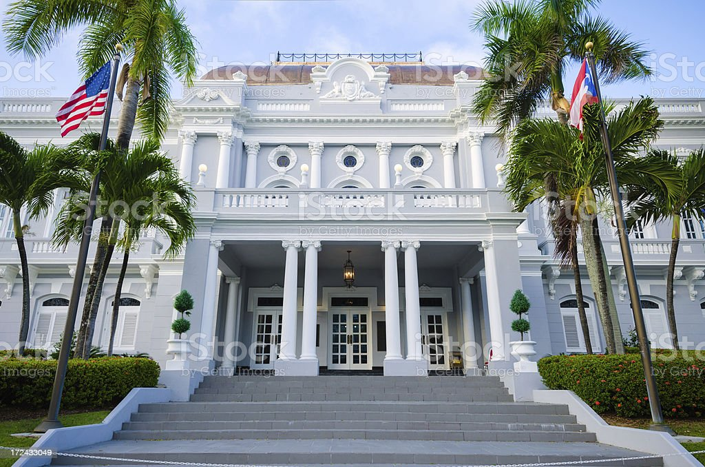 Government Reception Center in Old San Juan, Puerto Rico royalty-free stock photo