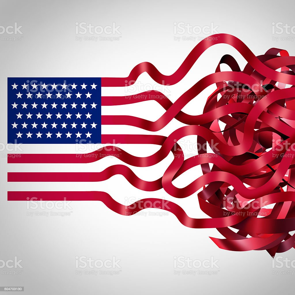 Government Red Tape stock photo
