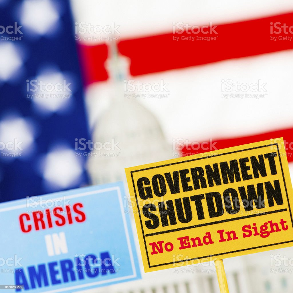 US Government Shutdown: No End in Sight royalty-free stock photo