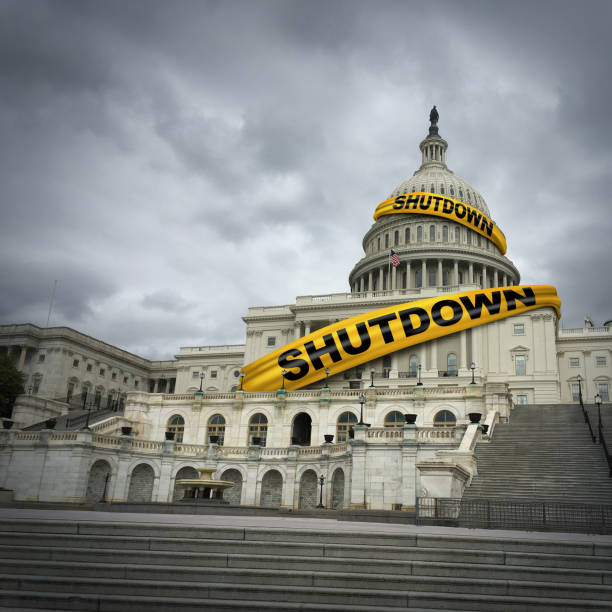 USA Government Shutdown stock photo